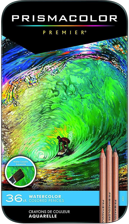 Prismacolor Premier Color Pencils | Water-Soluble Color Pencil Set, Assorted Colors, 36 Count