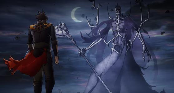 Trevor vs Death in Castlevania